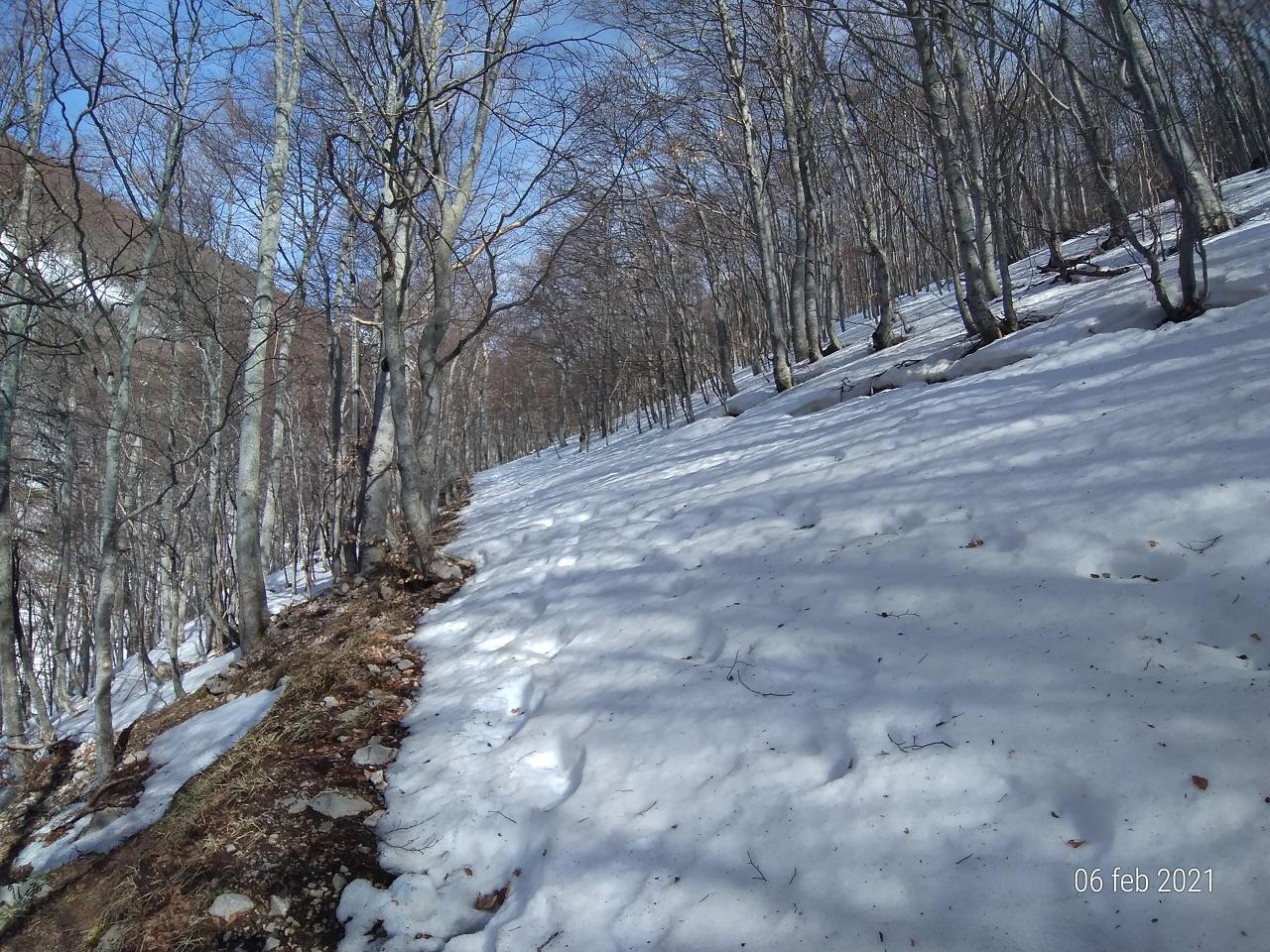 Invernale 2021 su Monte Marrone 1805 metri slm.